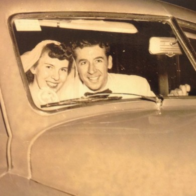 MaryAnn & Pete Phillips on their wedding day, August 26, 1950.